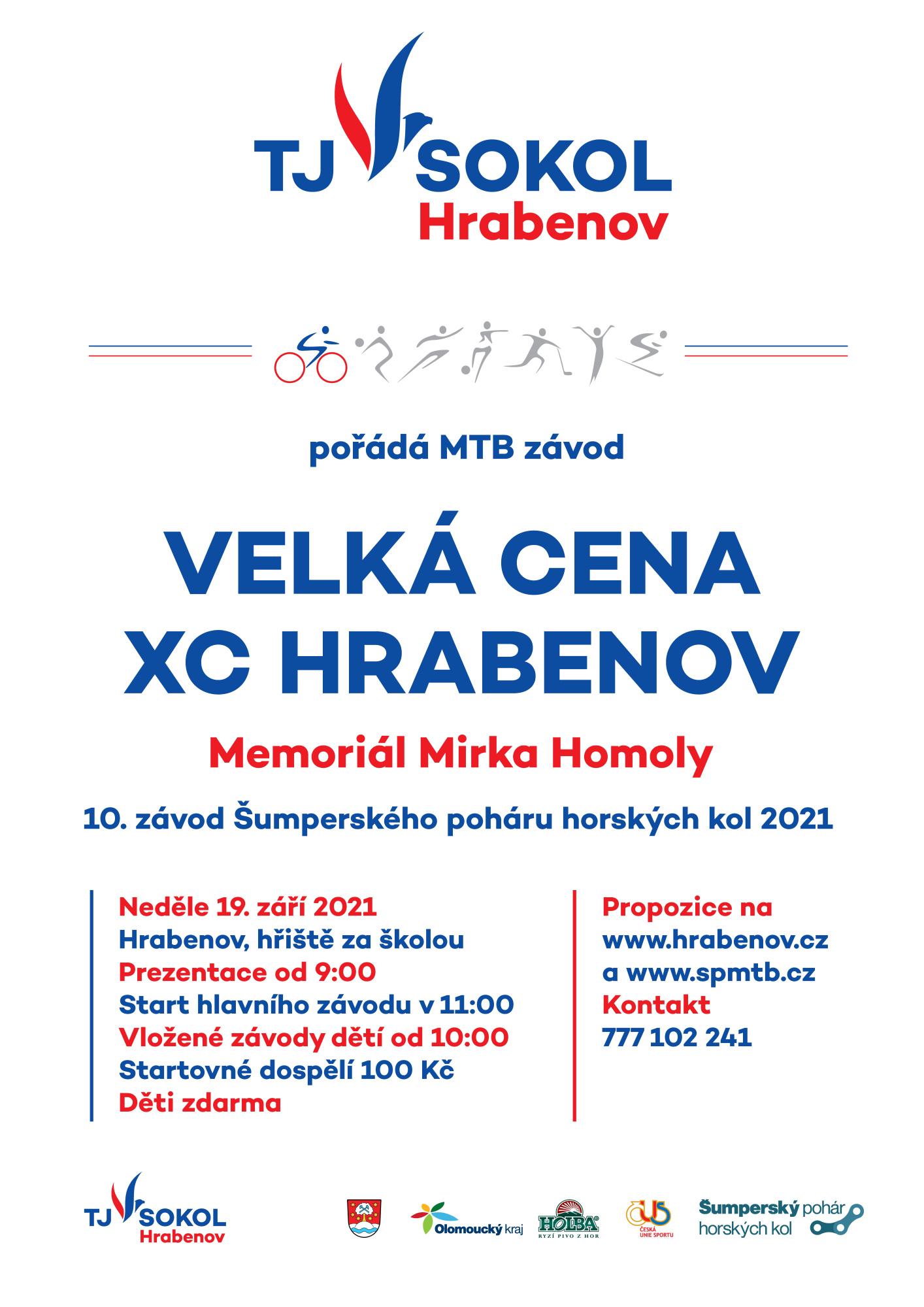 VC XC Hrabenov se jede v neděli 19. září